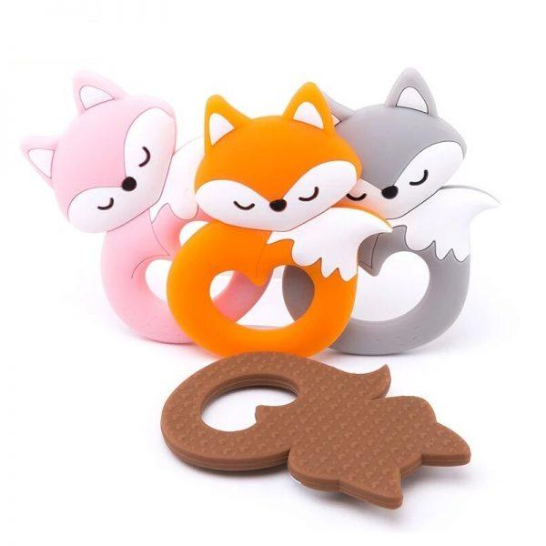 mordedor bebé silicona zorro fox