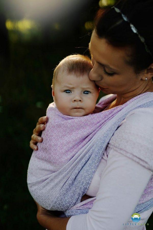 fular tejido lovely lilac little frog tencel toddler